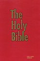 The Holy Bible (Pew Bible-Red)